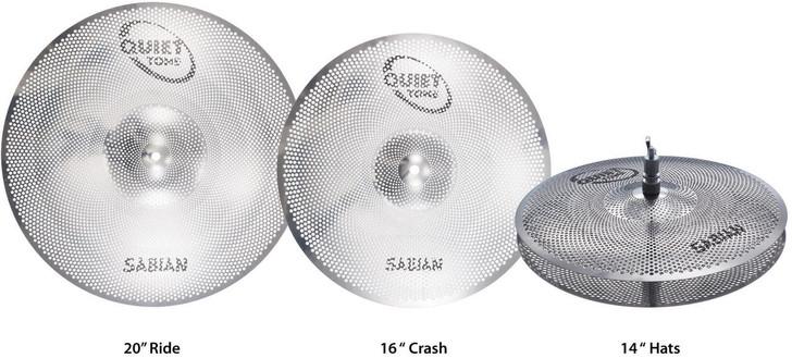 Sabian Quiet Tone Practice Cymbals Pack 14/16/20