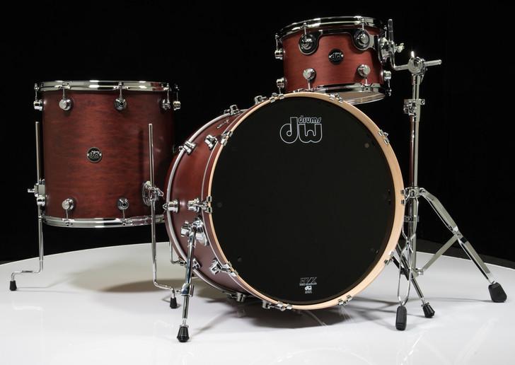 DW Performance Series 3pc Drum Kit Tobacco Satin Oil 12/16/22 Shallow