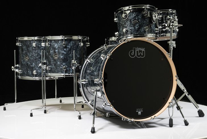 DW Performance Series 6pc Drum Kit Black Diamond 10/12/14/16/22/14SD