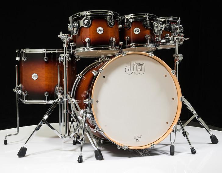 DW Design Series 6pc Drum Set - Tobacco Burst 8/10/12/16/22/14SD