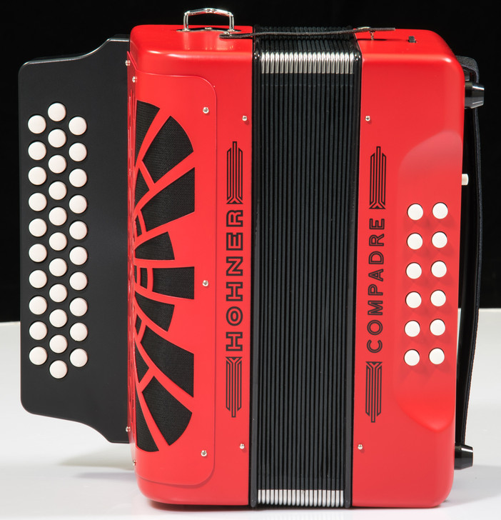 Hohner Compadre Accordion w/Gig Bag - Red (G C F)