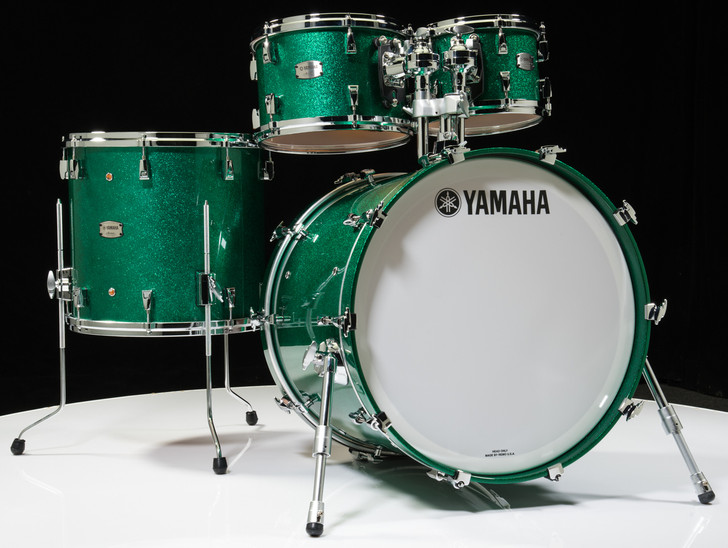 Yamaha Absolute Hybrid Maple 4pc Jade Green Sparkle