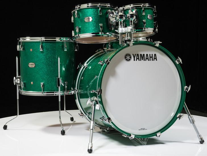 Yamaha Absolute Hybrid Maple 5pc Jade Green Sparkle