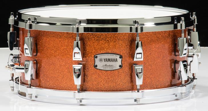 Yamaha Absolute Hybrid Maple 14x6 Snare - Orange Sparkle