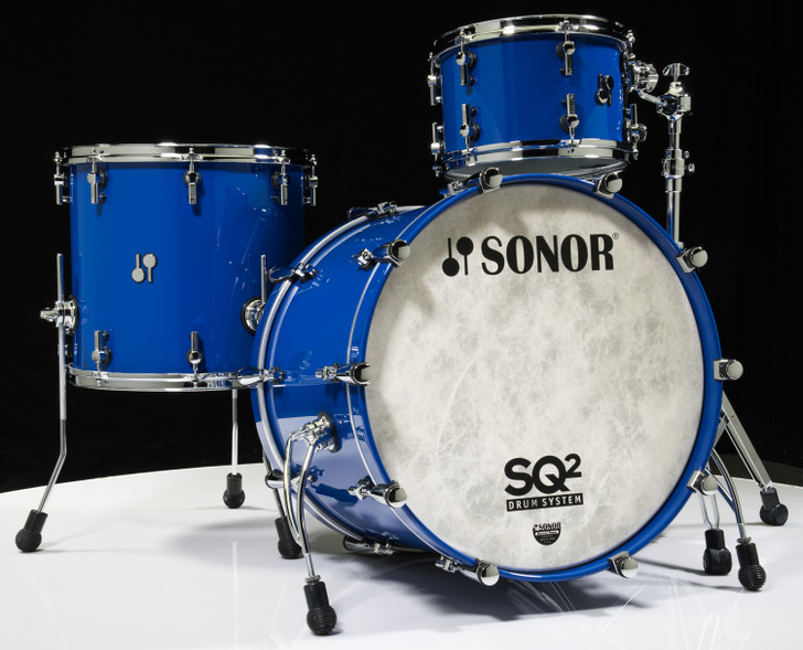 Sonor SQ2 Drums 3pc Beech Shell Pack - Ultra Marine RAL 5000