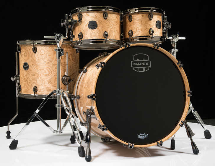 Mapex Saturn V Exotic Shell 4pc Rock Shell Pack - Natural Maple Burl