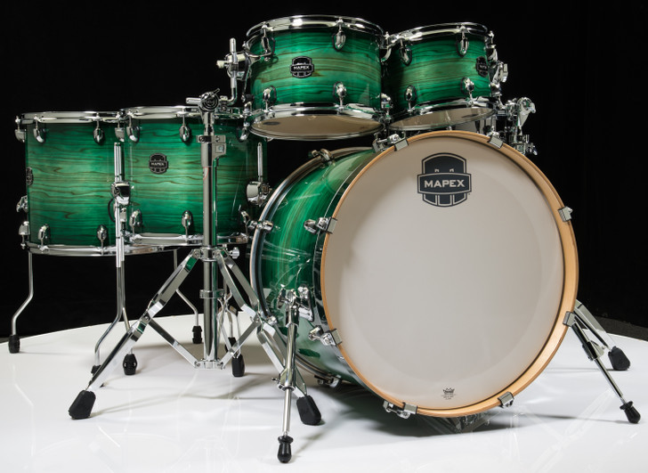 Mapex Armory 6pc Studioease Fast Toms Shell Pack Emerald Burst