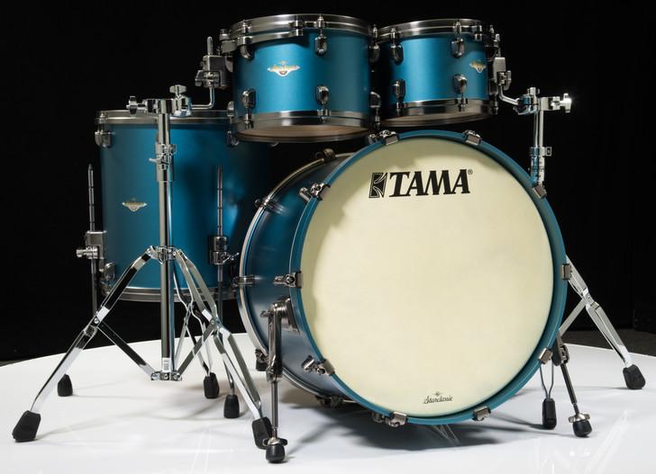 Tama Starclassic Maple 4pc Shell Pack  - Flat Steel Blue Metallic