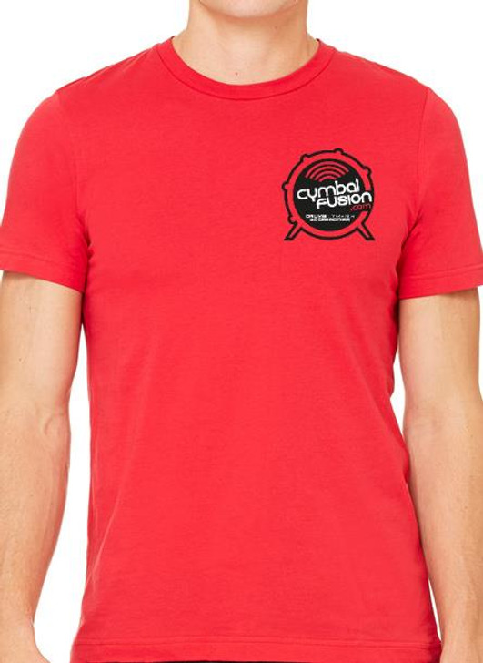 CymbalFusion.com T-Shirt Red with Front and Back Logo