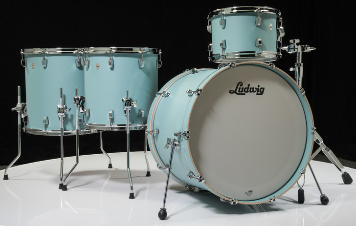 Ludwig Neusonic 4pc Shell Pack - Skyline Blue 12/14/16/22