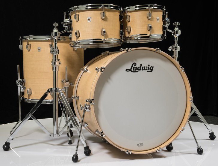 Ludwig Neusonic 4pc Shell Pack - Sugar Maple 10/12/16/22
