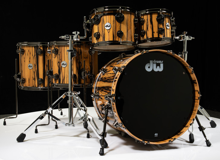 DW Collector's Series 5pc Shell Pack - Natural Lacquer over Ivory Ebony