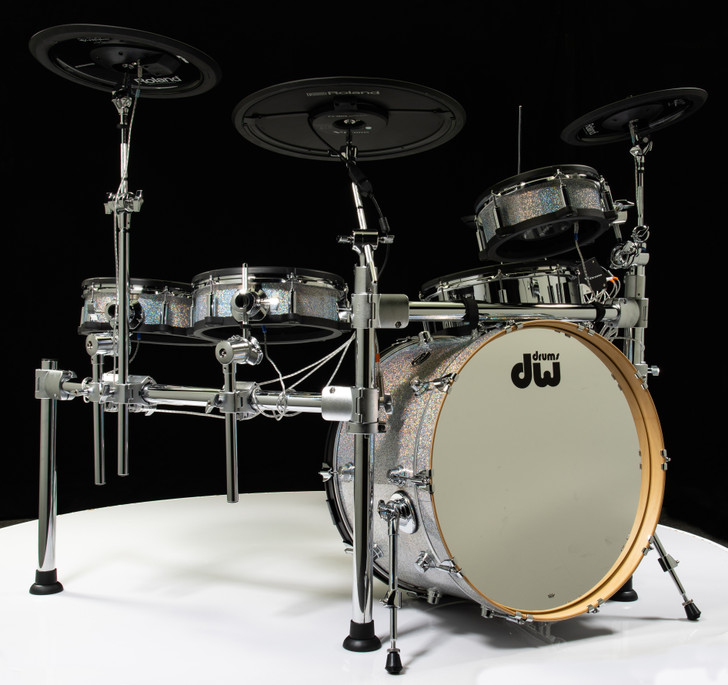 Roland TD-50KV Electronic Drum Kit + DW Bass Drum Diamond Nebula