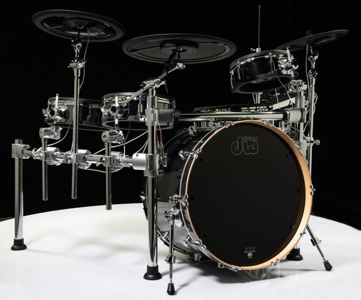 Roland TD-50KV Electronic Drum Kit + DW Bass Drum Pewter Sparkle