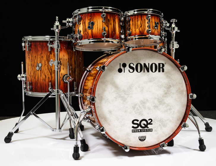 Sonor SQ2 5pc Beech Drum Kit - African Marble with Red Candy Burst