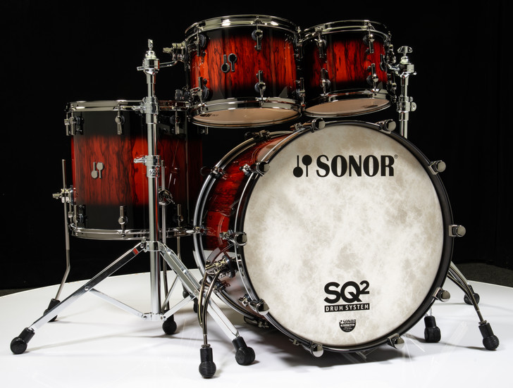 Sonor SQ2 4pc Shell Pack- African Marble with Black Candy Burst