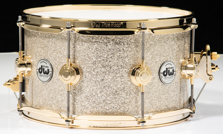 DW Collector's Snare 7x13 - Broken Glass w/Gold Hardware
