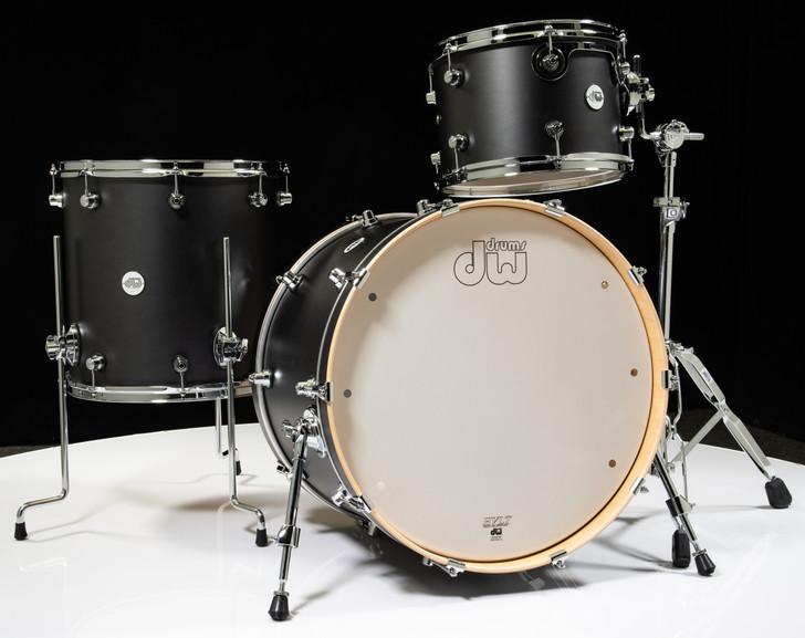 DW Design Series 3pc Drum Set 13/16/22 - Iron Satin Metallic
