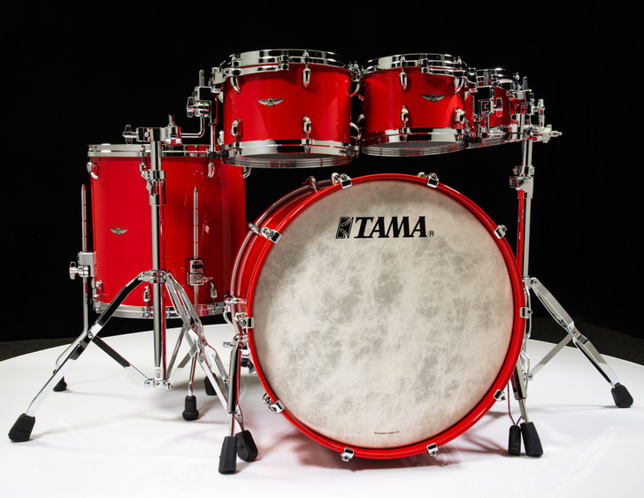 Tama Star Walnut 5pc Solid Candy Red Shell Pack 8/10/12/16/22