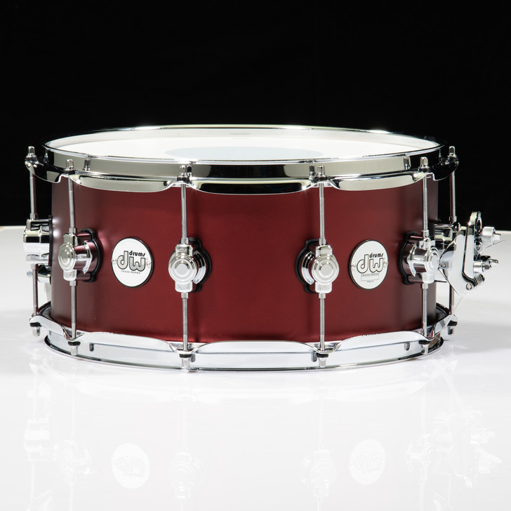 DW Design Series 6.5x14 Snare - Crimson Satin Metallic