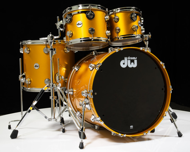 DW Collector's 4pc Maple/Mahogany Shell Pack - Vegas Gold Metallic