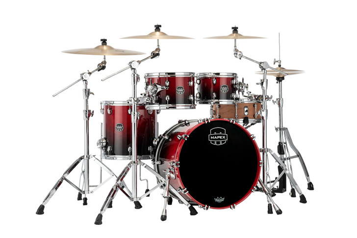Mapex Saturn 4pc Fusion Shell Pack - Scarlet Fade