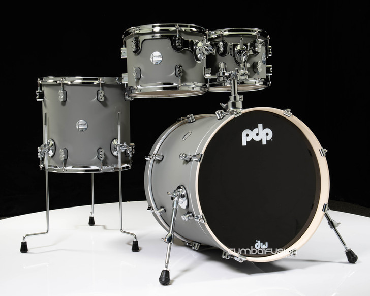 PDP Concept Maple Fusion 4pc 10/12/14/20 Satin Pewter