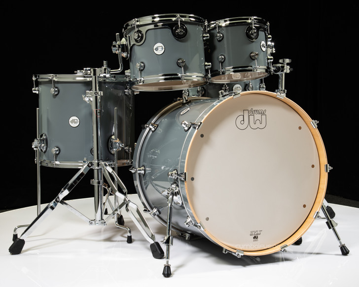 DW Design Series 5pc Shell Pack - Steel Grey
