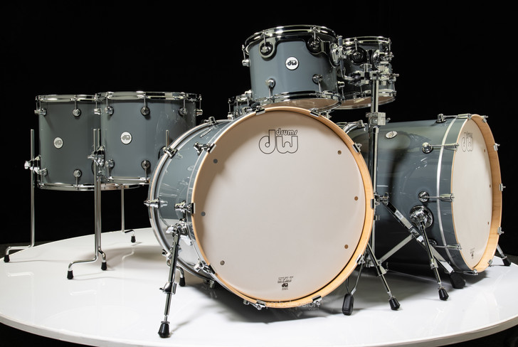 DW Design Series Double Bass 7pc Shell Pack - Steel Grey