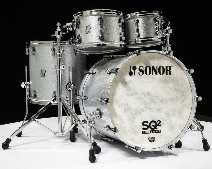 Sonor SQ2 4pc Shell Pack - Silver Sparkle