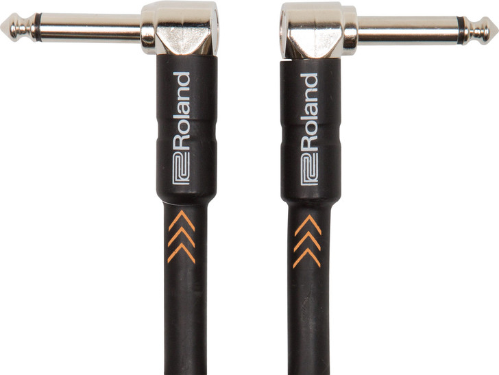 Roland RIC-B1AA 3ft Inst. Cable, Angled/Angled 1/4 jack - Black Series