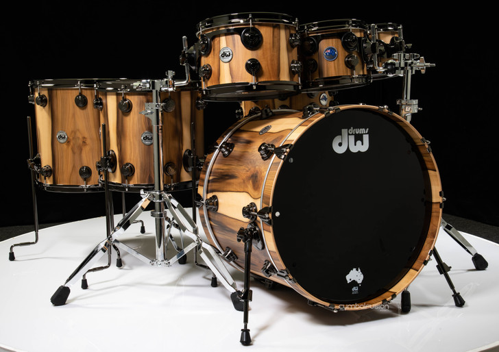 DW Collectors Pure Tasmanian 7pc Kit - Natural Hard Satin (Black Nickel)