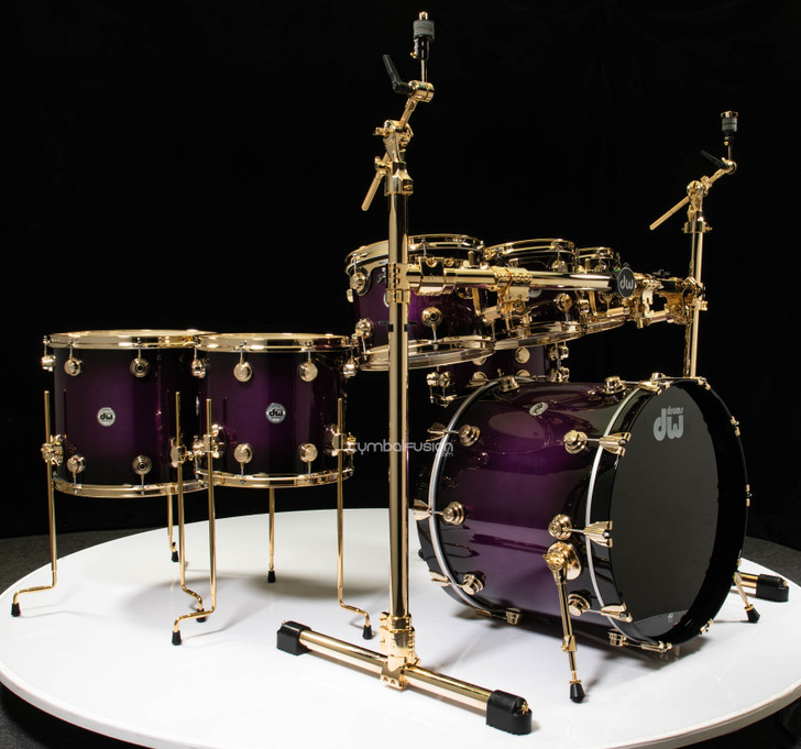 DW Collectors 7pc Purpleheart Kit - Anodized Purple to Black Burst