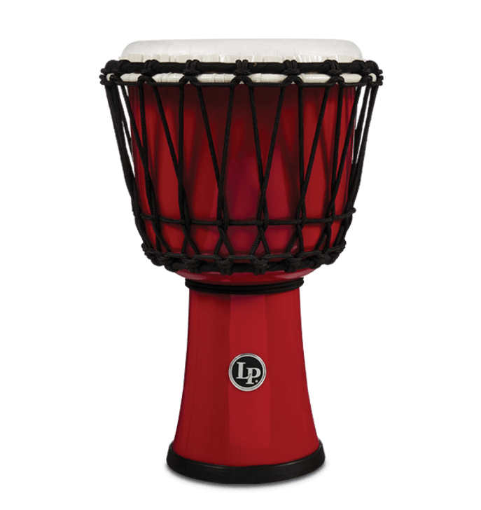 LP World 7 in. Rope Circle Djembe - Red