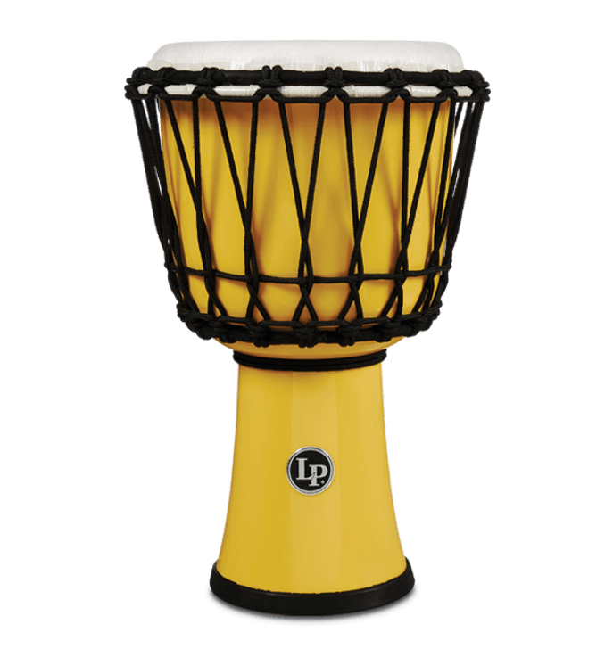 LP World 7 in. Rope Circle Djembe - Yellow