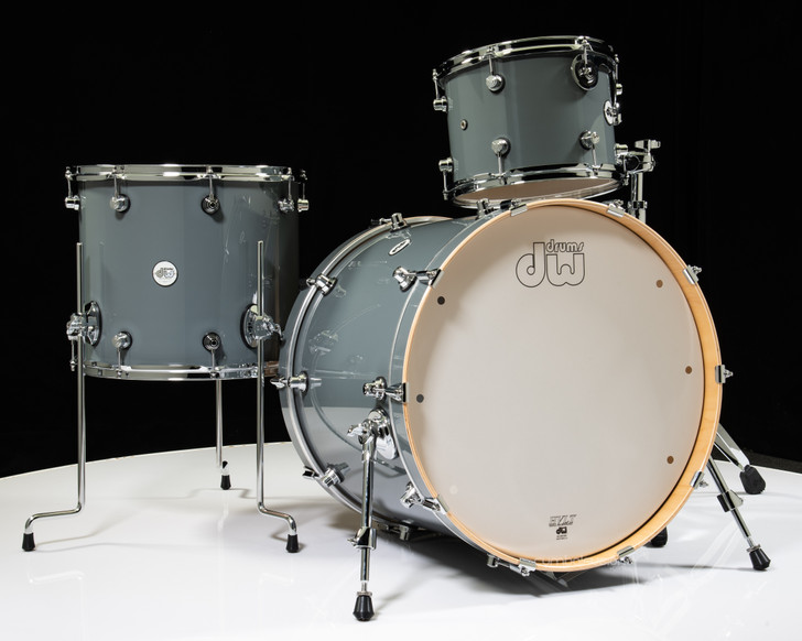 DW Design Series 3pc Drum Set 12/16/22 - Steel Grey