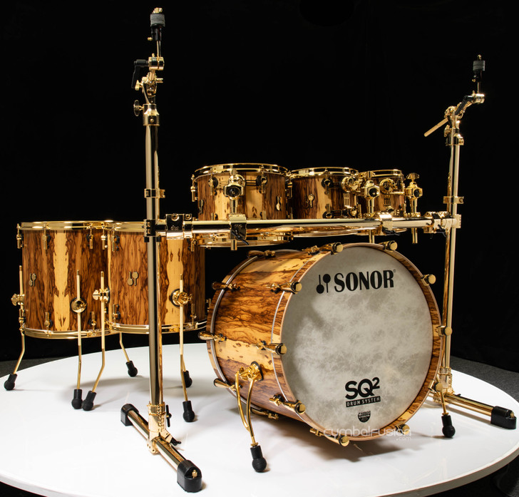 Sonor SQ2 6pc Beech Shell Pack - African Marble w/Gold HW
