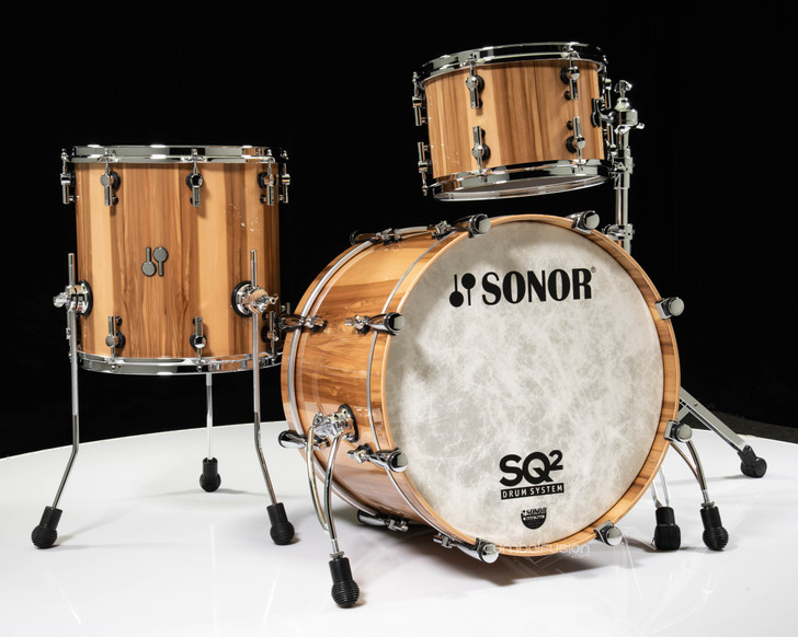 Sonor SQ2 3pc Maple Shell Pack - American Walnut