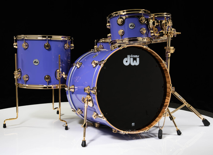 DW Collector's 5pc Maple Kit -Imperial Purple w/Zebrawood interior