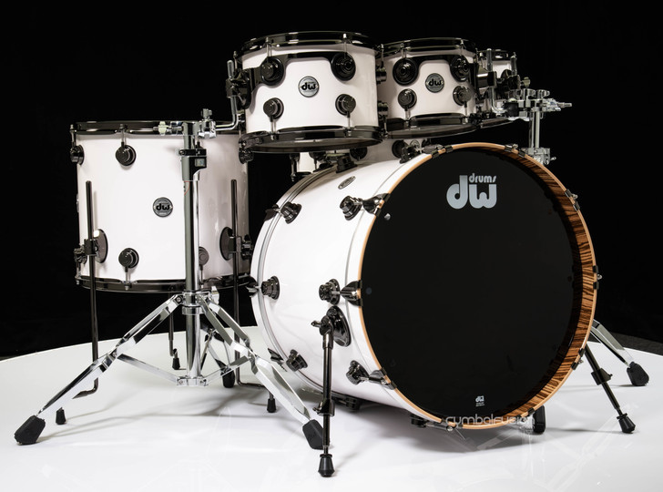 DW Collector's 6pc Shell Pack - Snowy Mountain Lacquer w/Zebrawood