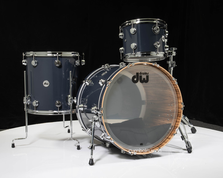 DW Collector's 3pc Maple Kit - Glazed Granite Lacquer w/Zebrawood
