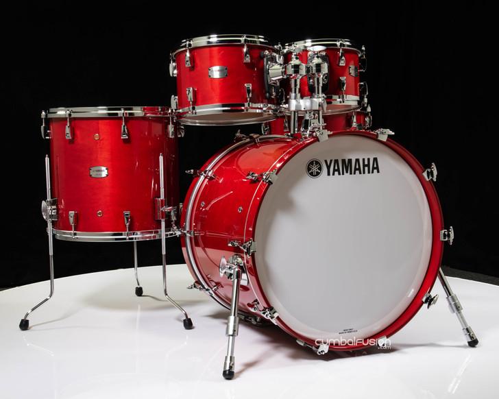 Yamaha Absolute Hybrid Maple 5pc 10/12/16/22/14SD Red Autumn