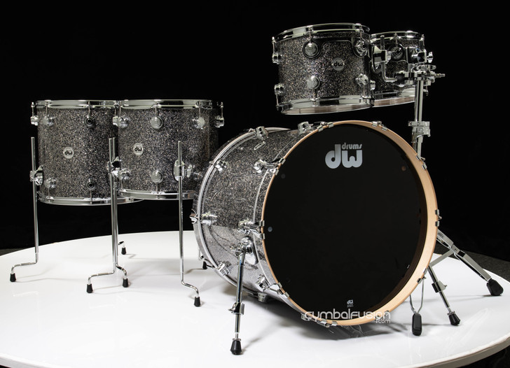 DW Collector's Series 5pc Maple Shell Pack - Black Galaxy 10/12/14/16/22
