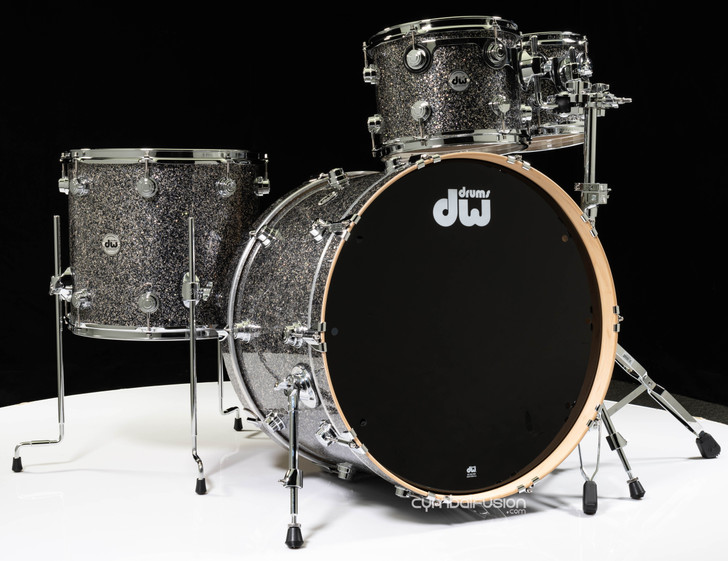 DW Collector's Series 4pc Maple Shell Pack - Black Galaxy 10/12/16/24