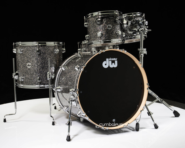 DW Collector's 5pc Maple Shell Pack - Black Galaxy 10/12/16/22/14SD