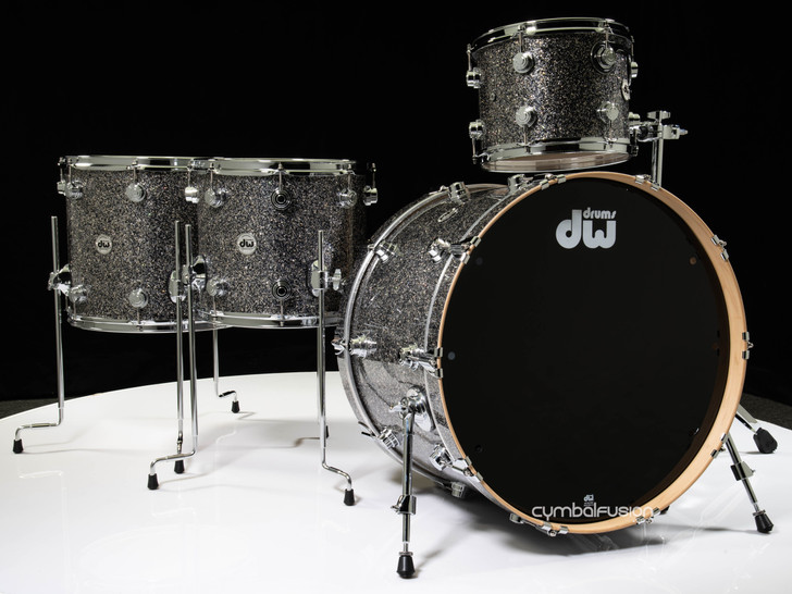 DW Collector's 4pc Maple Shell Pack - Black Galaxy 12/14/16/24