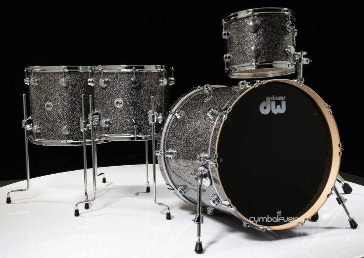 DW Collector's 4pc Maple Shell Pack - Black Galaxy 12/14/16/22