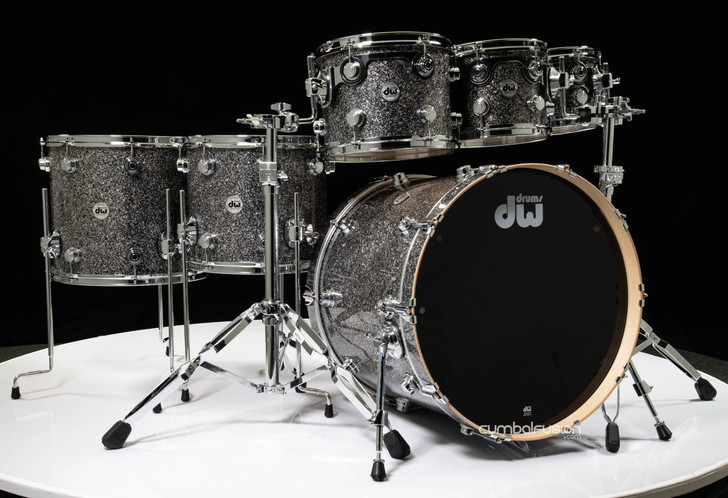 DW Collector's 6pc Maple Shell Pack - Black Galaxy 8/10/12/14/16/22