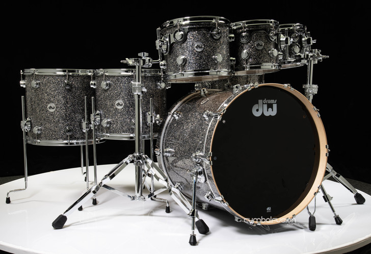 DW Collector's 7pc Maple Shell Pack - Black Galaxy 8/10/12/14/16/22/14SD