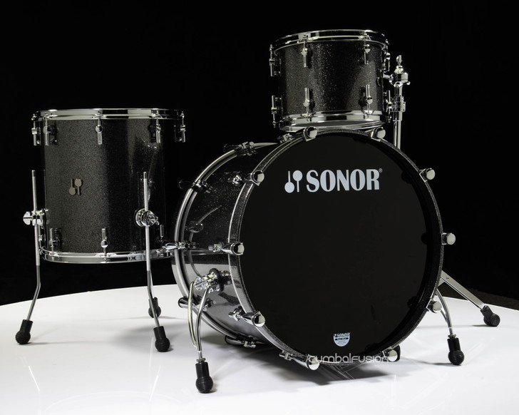 Sonor SQ2 3pc Beech Shell Pack - Black Sparkle